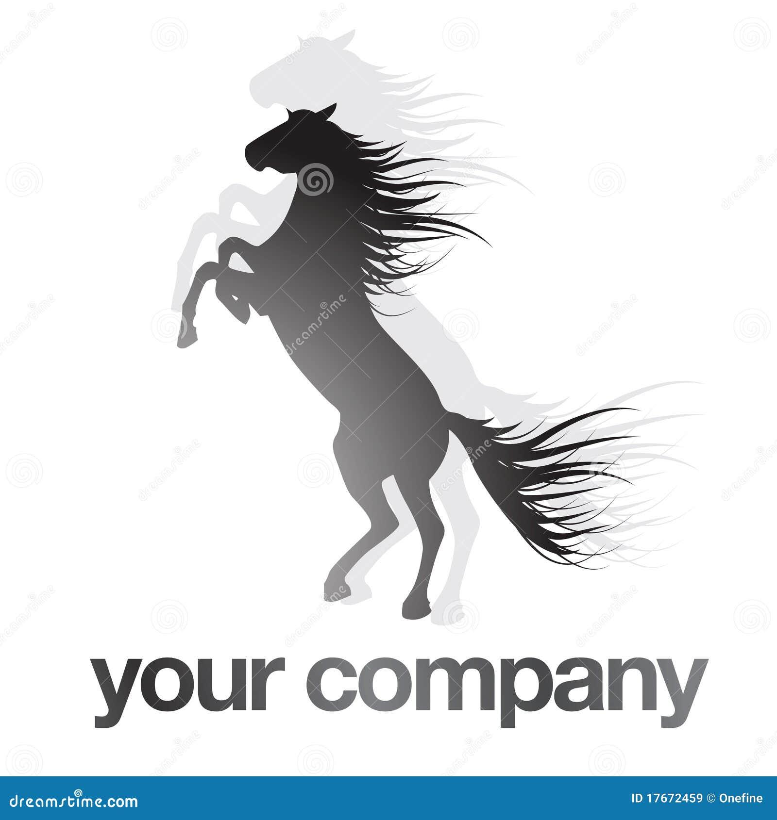 Zeichen-schwarzes Pferd