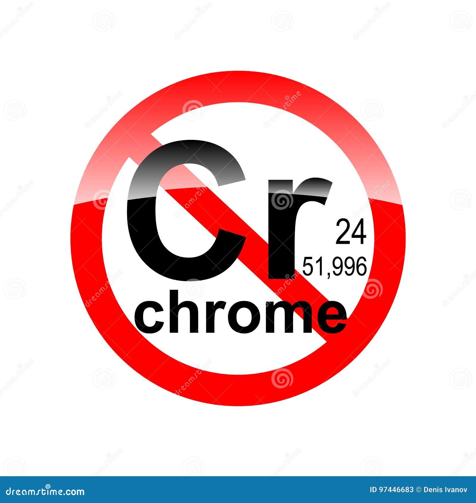 Zeichenfehlen der schädlicher Stoffe - Chrom