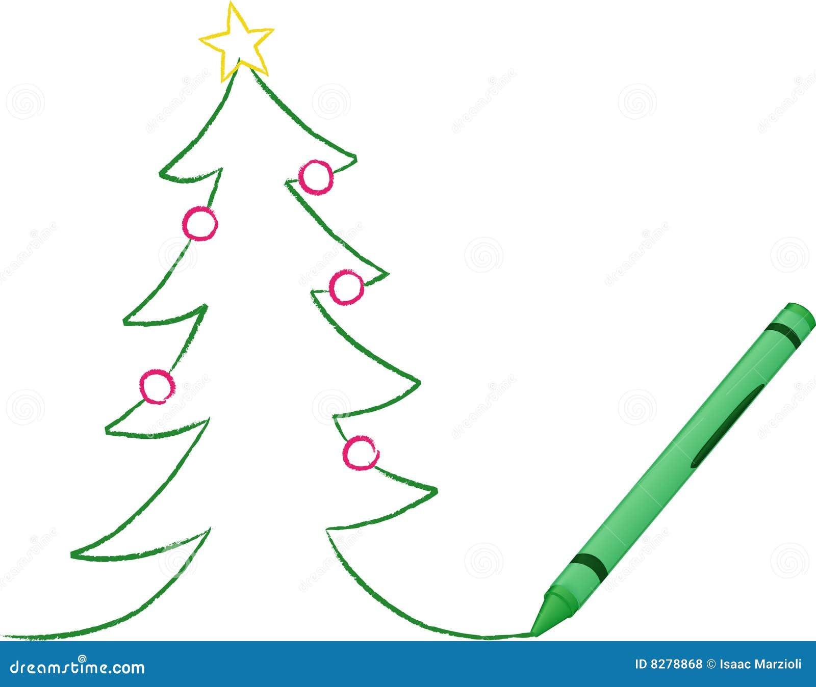 Zeichenstift Gezeichneter Weihnachtsbaum Vektor Abbildung ...