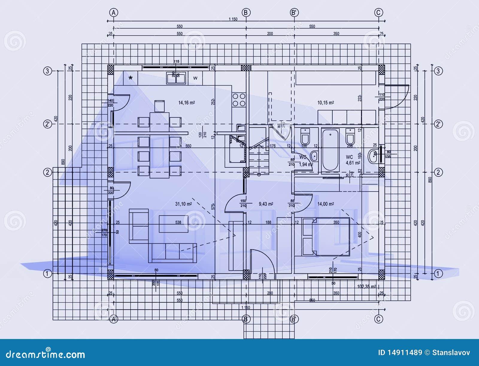 zeichnen mit haus 3d lizenzfreie stockbilder bild 14911489. Black Bedroom Furniture Sets. Home Design Ideas