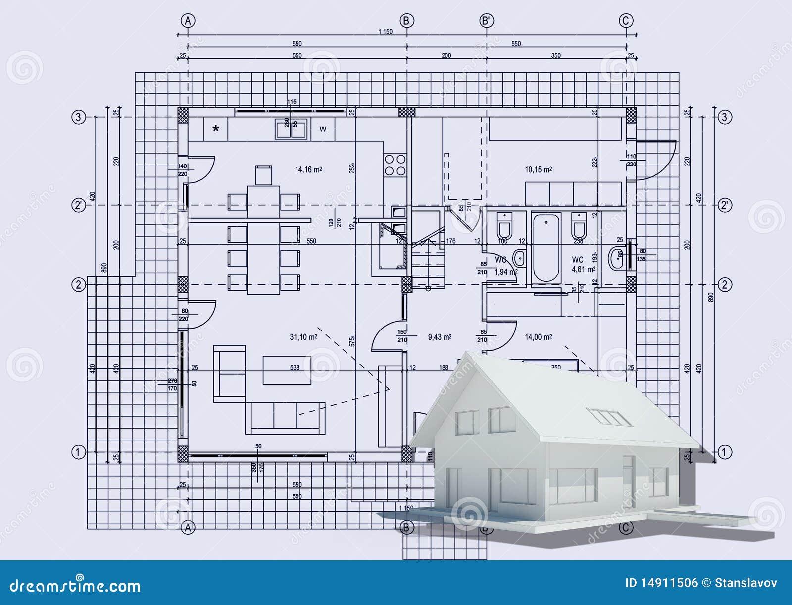 Zeichnen mit haus 3d lizenzfreies stockbild bild 14911506 for Haus zeichnen 3d