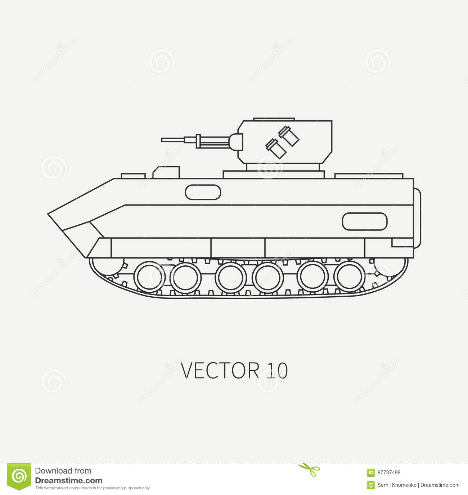 Zeichnen Sie Des Vektorikoneninfanterieangriffs Der Flachen