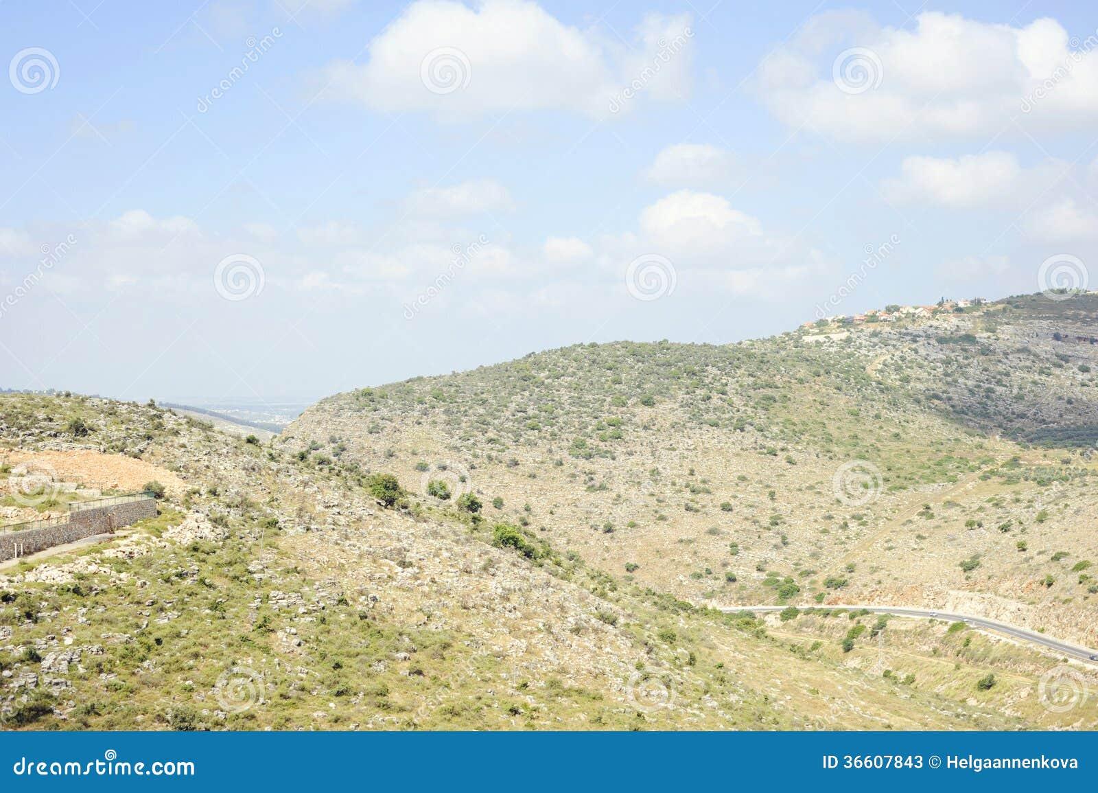 Zeichnen Sie die Hügel von Israel