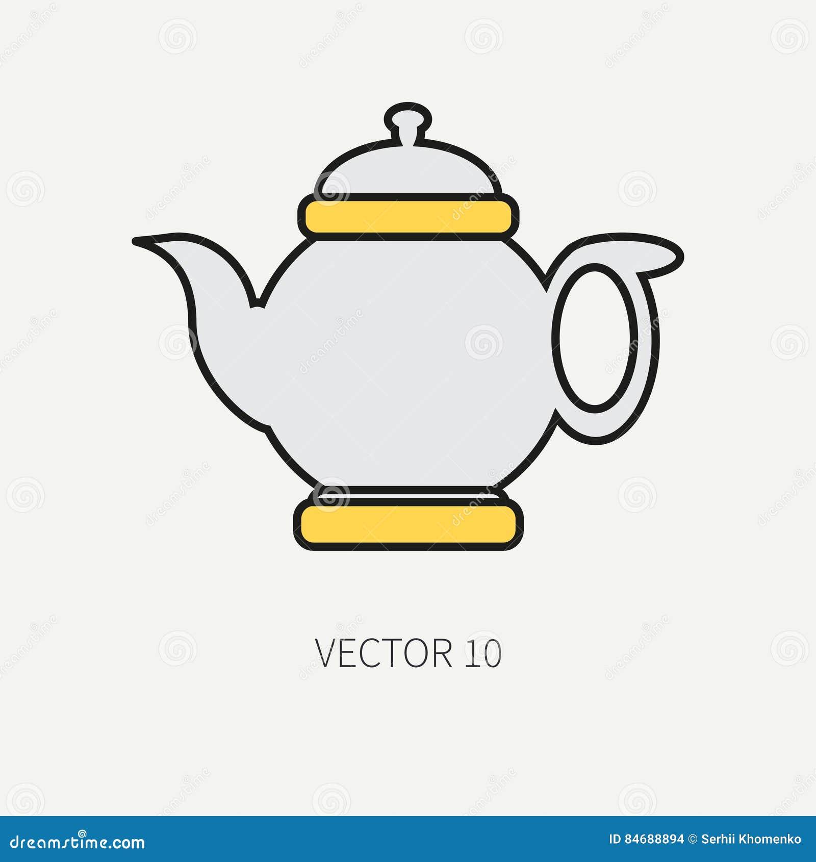 Zeichnen Sie Flache Farbvektor Kuchengeschirrikonen Teekanne Tischbesteckwerkzeuge Uberlagert Einfach Zu Bearbeiten Illustrati Vektor Abbildung Illustration Von Zeichnen Uberlagert 84688894