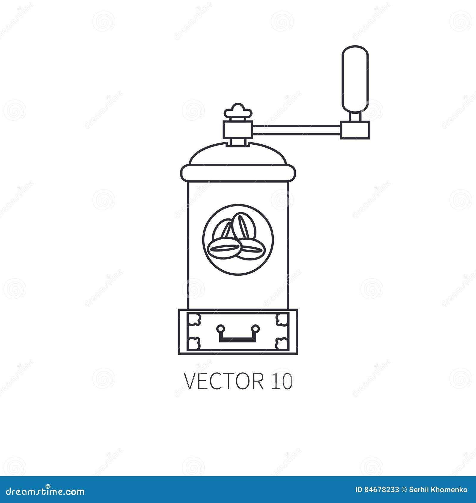 Zeichnen Sie Flache Vektorkuchengeschirrikonen Kaffeemuhle Tischbesteckwerkzeuge Uberlagert Einfach Zu Bearbeiten Illustration Vektor Abbildung Illustration Von Tischbesteckwerkzeuge Flache 84678233