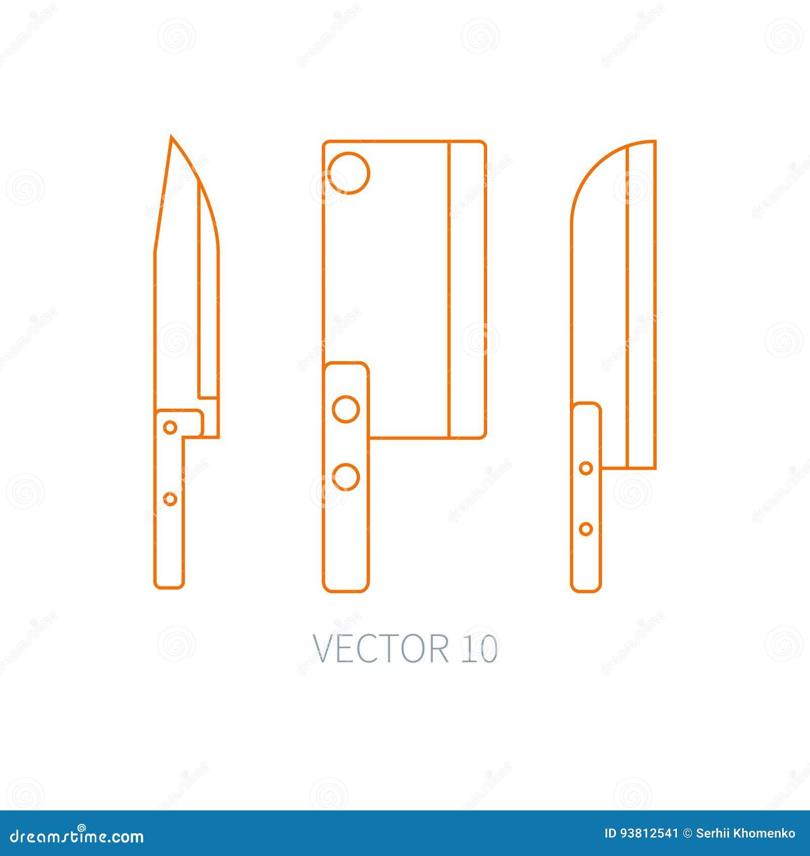 Zeichnen Sie Flache Vektorkuchengeschirrikonen Messer Zerhacker Backsword Tischbesteckwerkzeuge Uberlagert Einfach Zu Bearbeit Vektor Abbildung Illustration Von Uberlagert Flache 93812541
