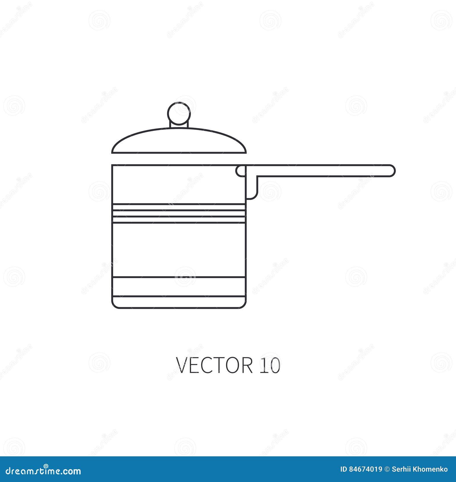 Zeichnen Sie Flache Vektorkuchengeschirrikonen Wanne Topf Tischbesteckwerkzeuge Uberlagert Einfach Zu Bearbeiten Illustration Vektor Abbildung Illustration Von Topf Bearbeiten 84674019