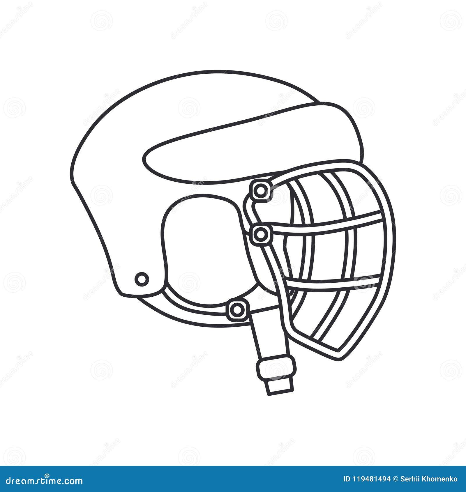 Zeichnen Sie Vektorikonenhockey Rugby