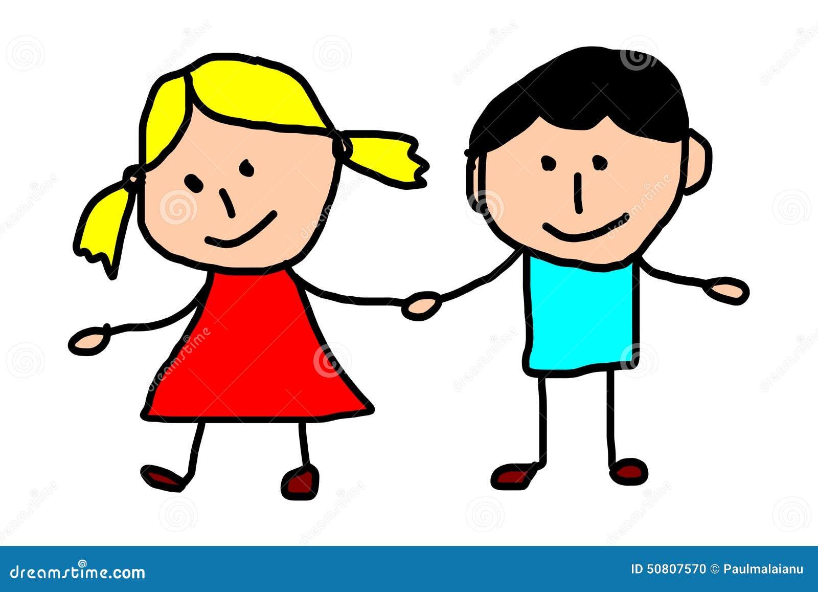 Zeichnende Kinder - Freunde Stock Abbildung - Illustration ...
