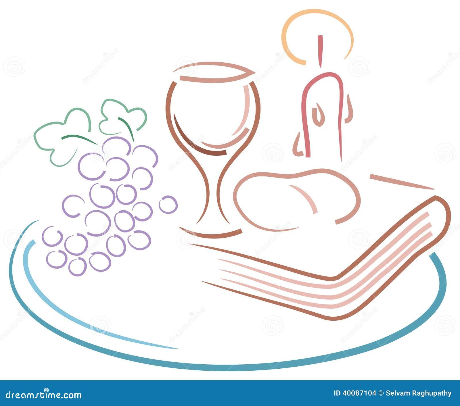 Zeichnung Der Heiligen Kommunion Vektor Abbildung Bild 40087104