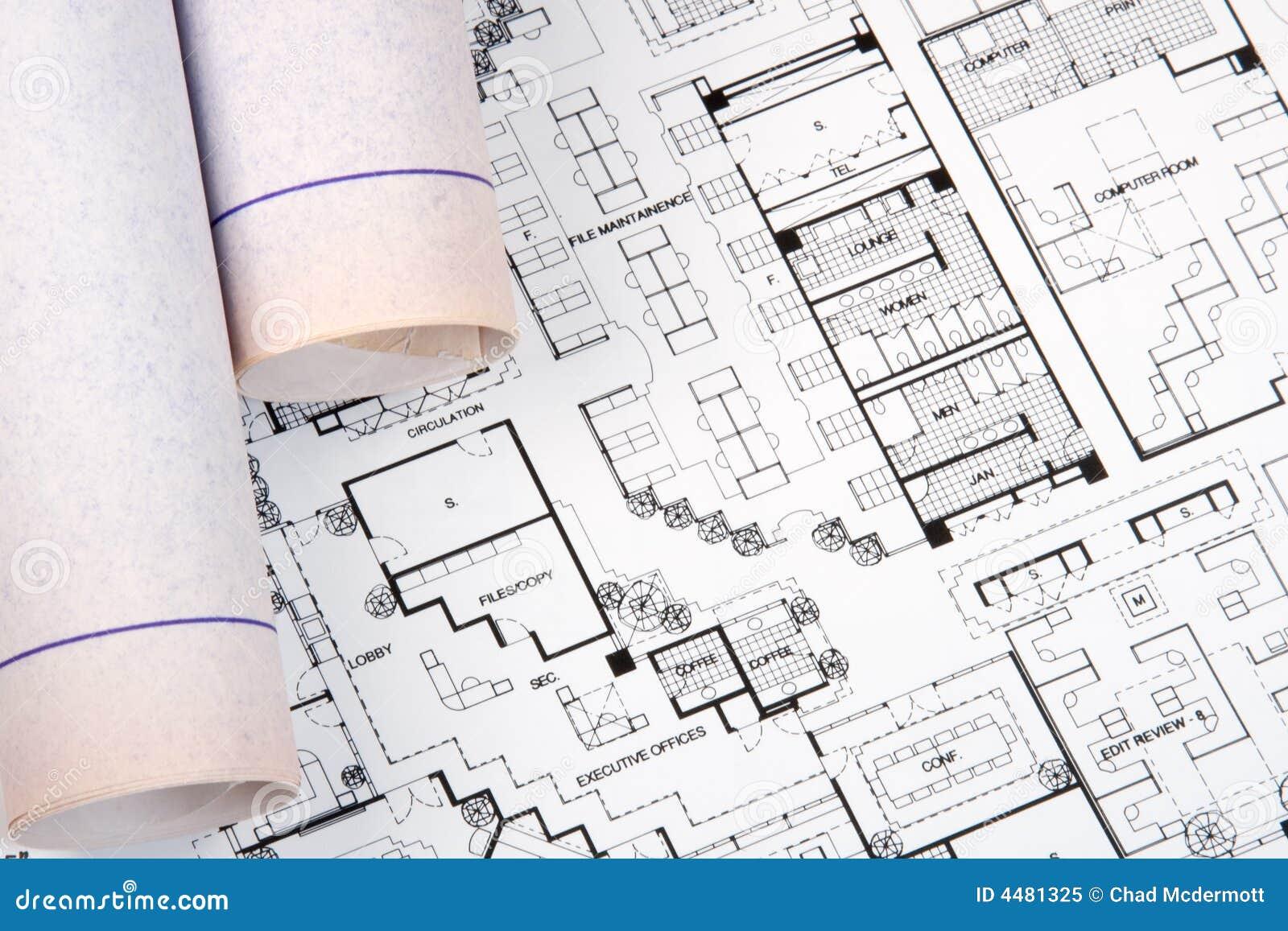 Zeichnung Und Pläne Des Architekten Stockbild - Bild von skizze ...