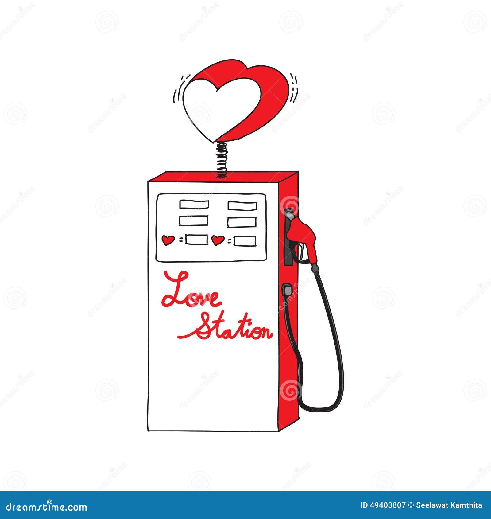 Download Zeichnungs-Karikatur Der Liebes-Station Auch Im Corel Abgehobenen Betrag Vektor Abbildung - Illustration von füllung, clip: 49403807