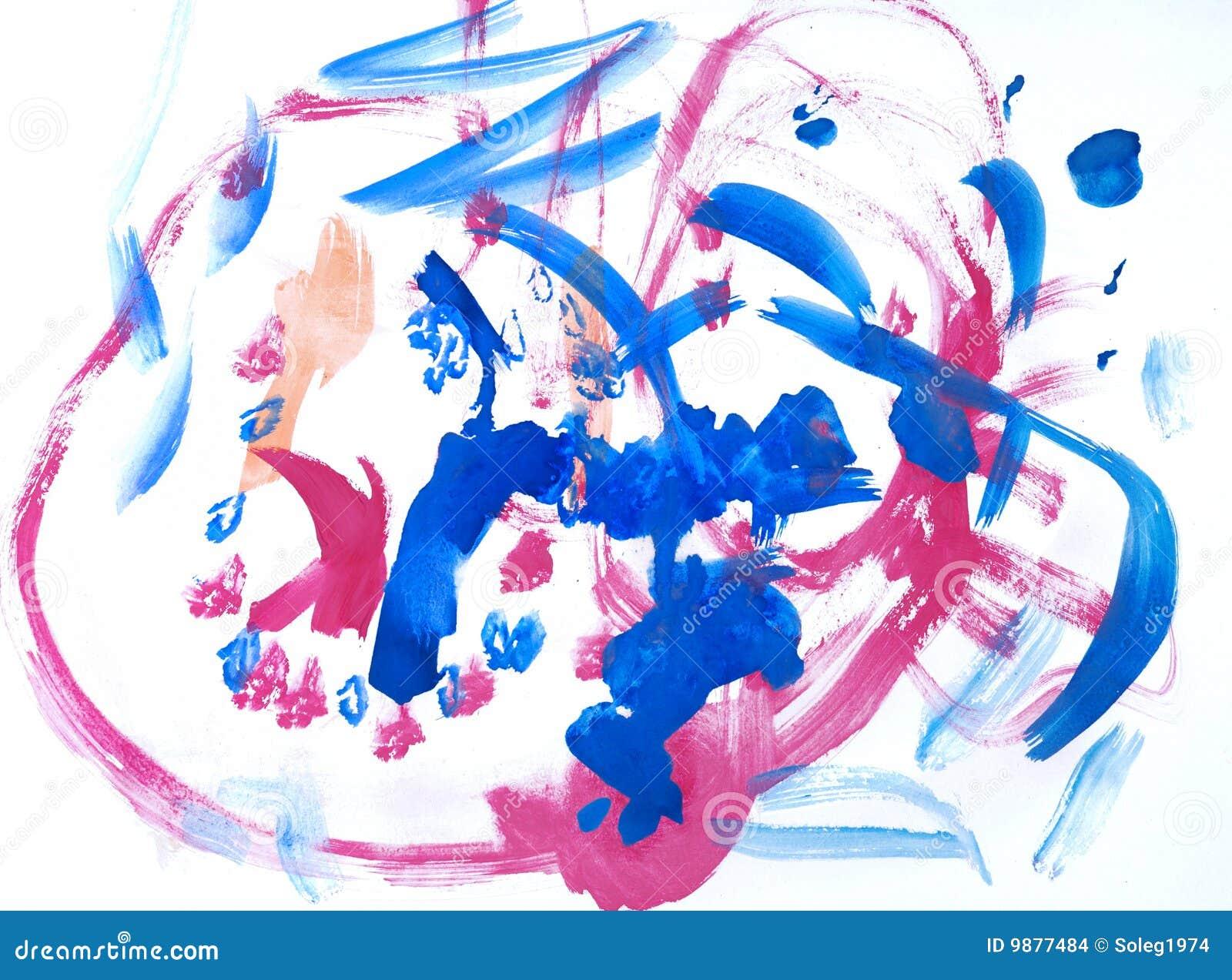 Zeichnungs-Wasserfarbenlacke der Kinder
