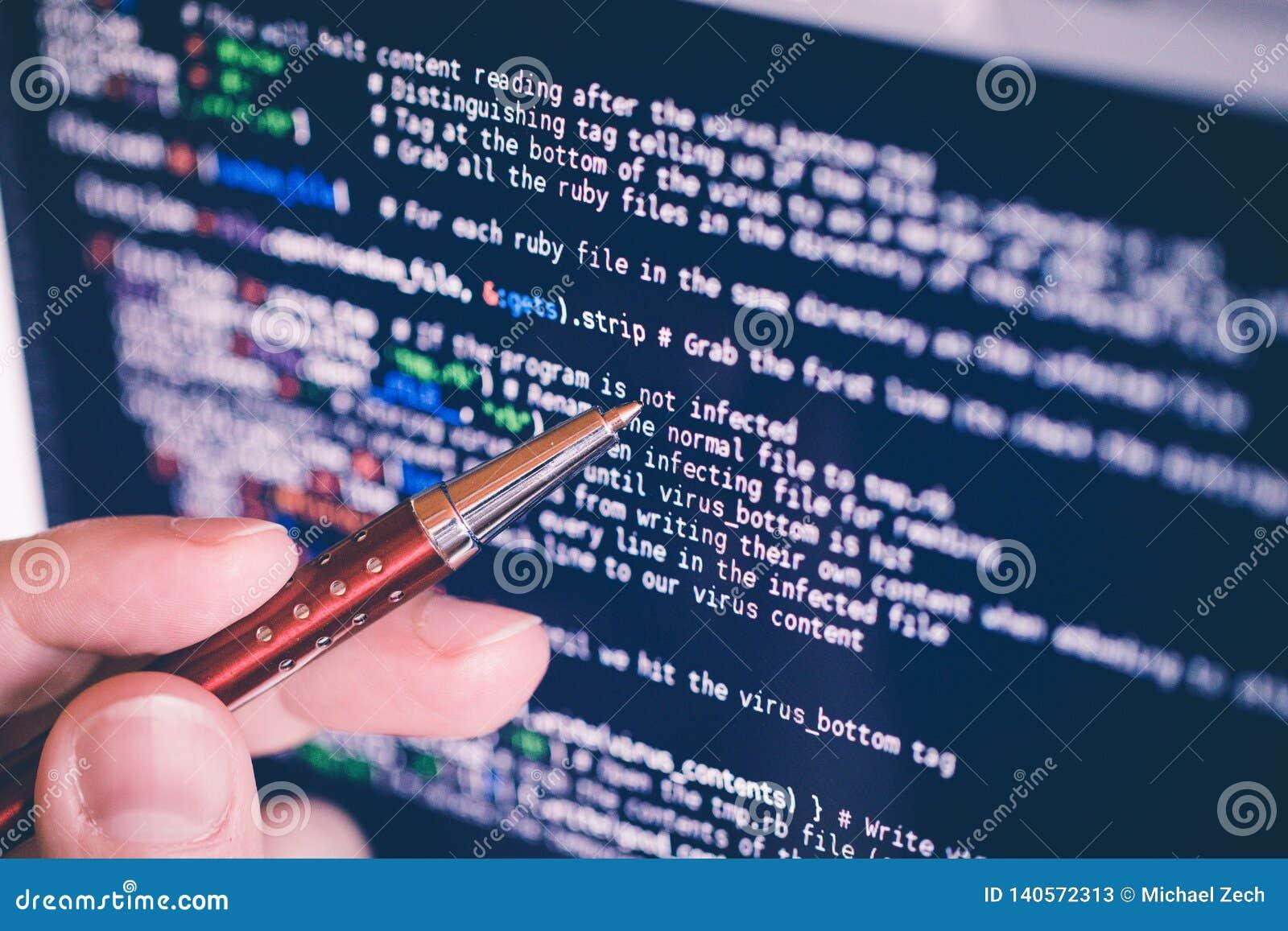 An zeigen codieren am Bildschirm mit Stift Software-