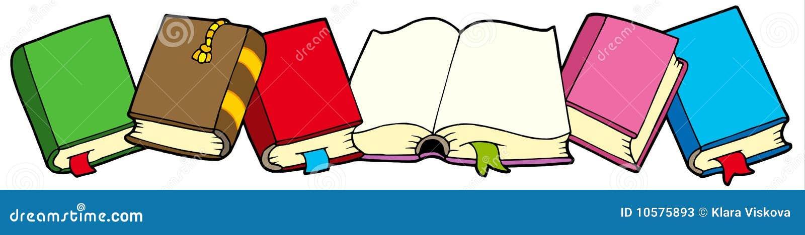 Bücherreihe clipart  Zeile Der Bücher Stockfotos - Bild: 10575893