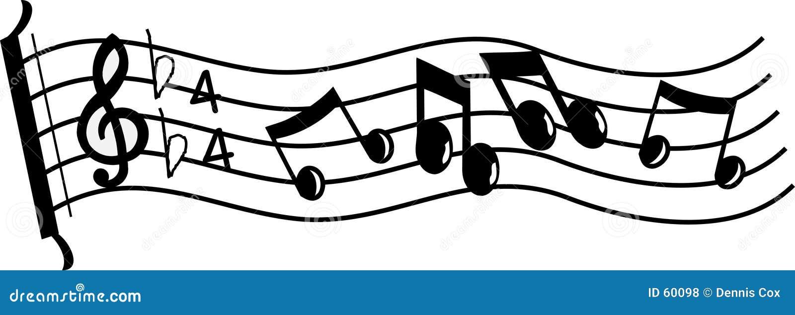 Zeile von Musik