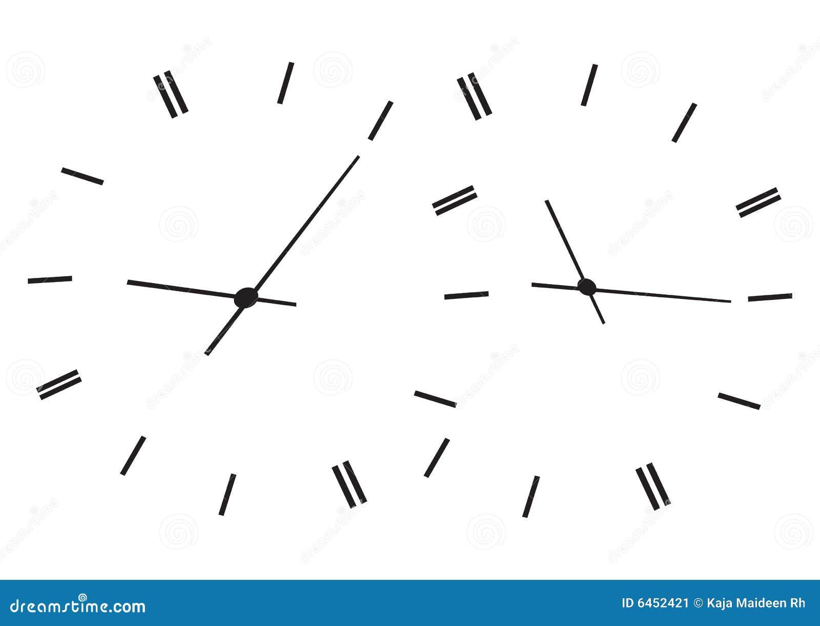 Zeit, die Borduhren zeigt