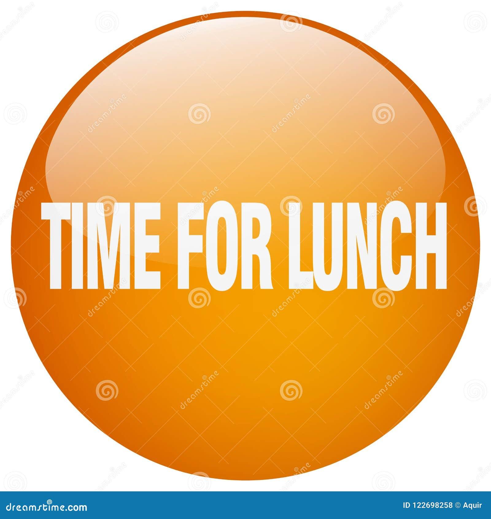 Zeit für Mittagessenknopf