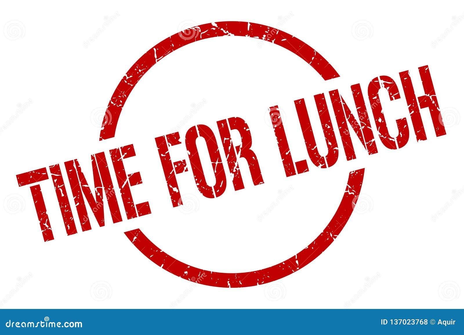 Zeit für Mittagessenstempel