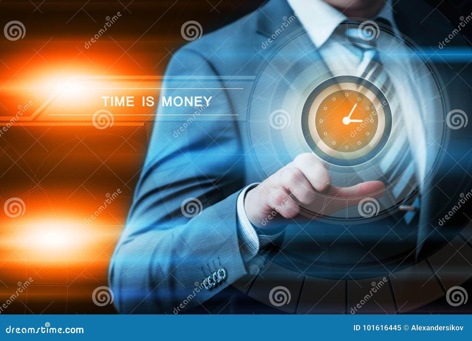 Zeit ist Geld Investitions-Finanzgeschäfts-Technologie-Internet-Konzept