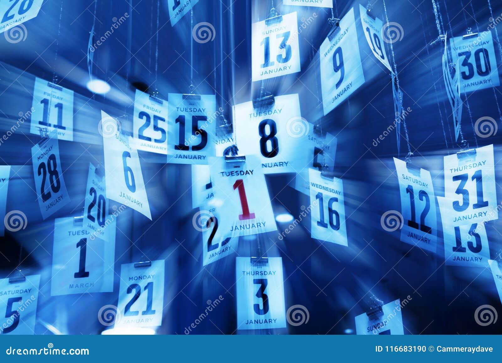 Zeit Kalender Hintergrund Zusammenfassung Stockfoto Bild Von