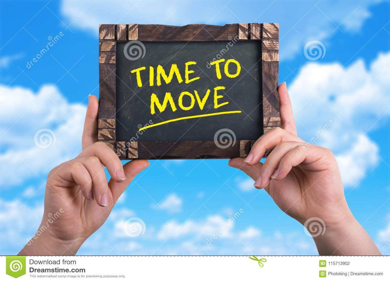 Zeit sich zu bewegen