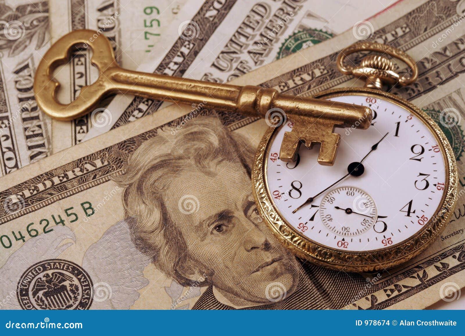 Zeit- und Geldkonzeptbild