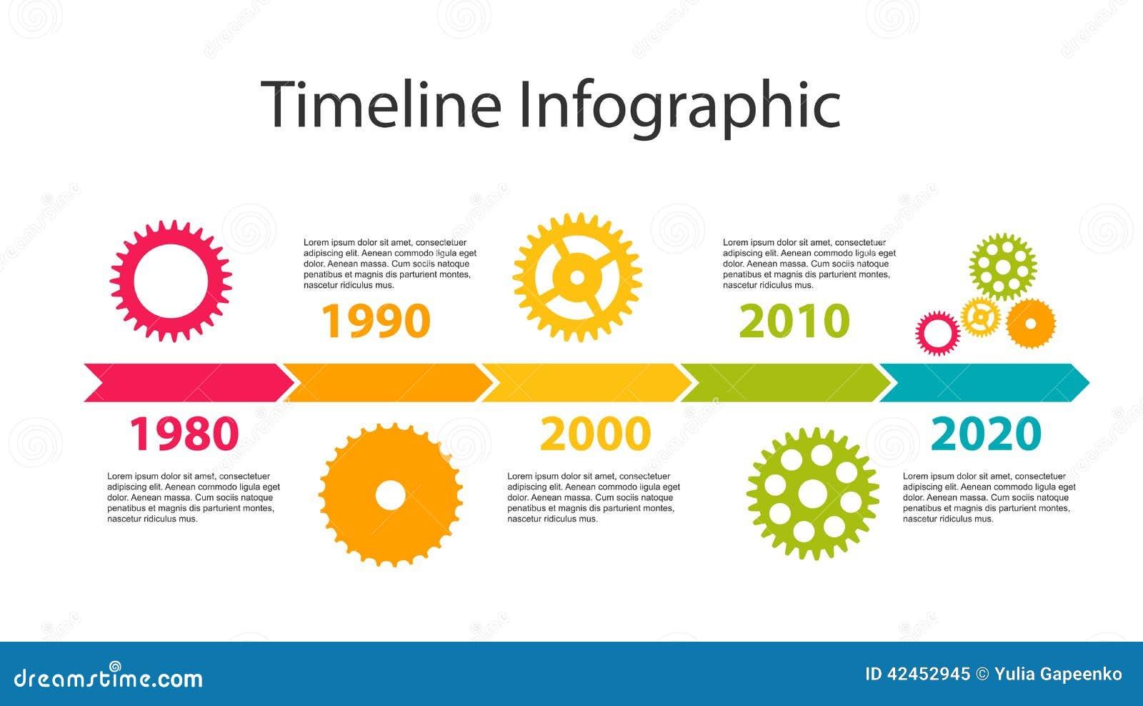 Zeitachse Infographic-Schablone für Geschäfts-Vektor