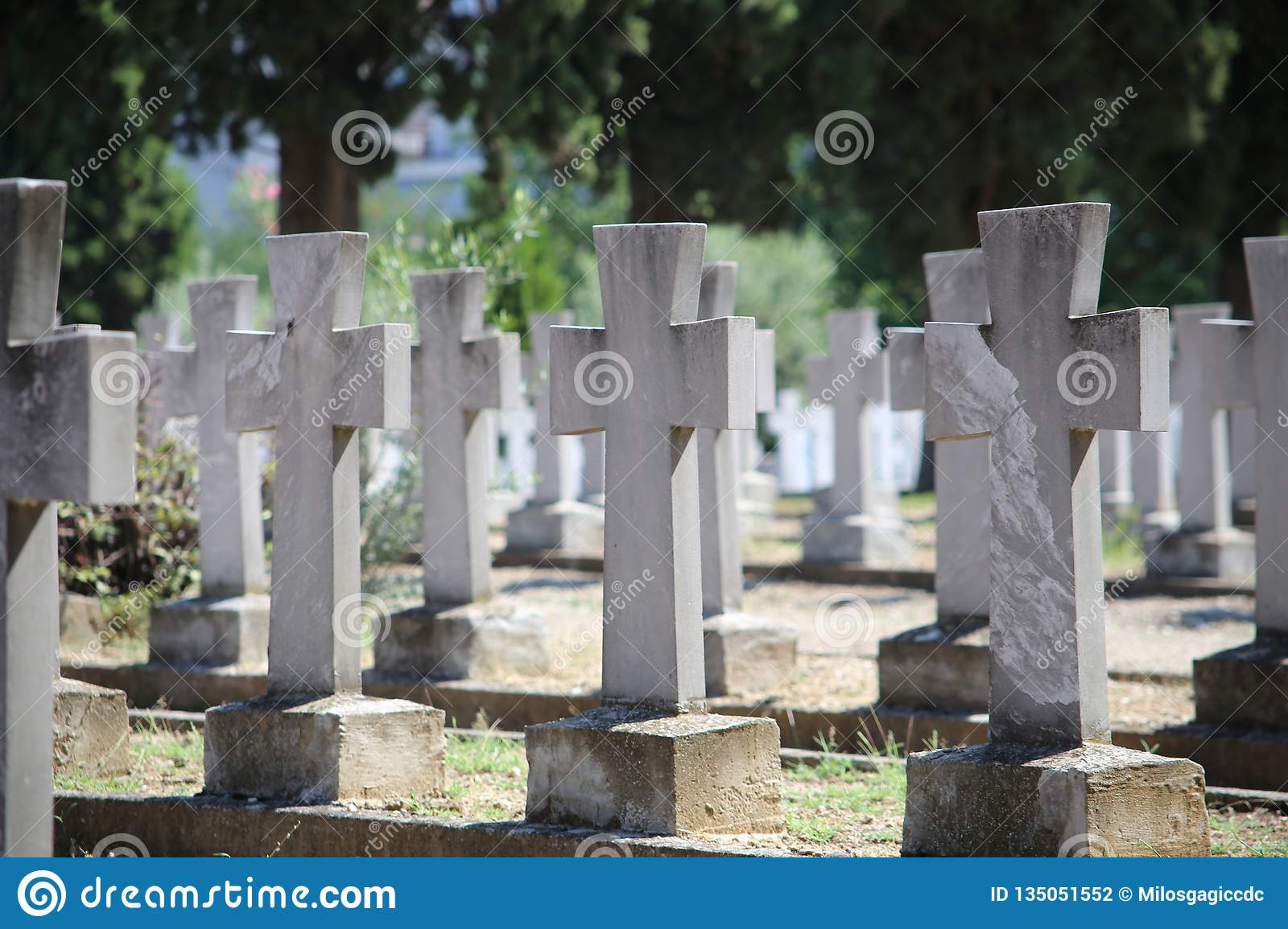 Zeitenlik military cemetery and World War I memorial park in Thessaloniki, the largest in Greece.