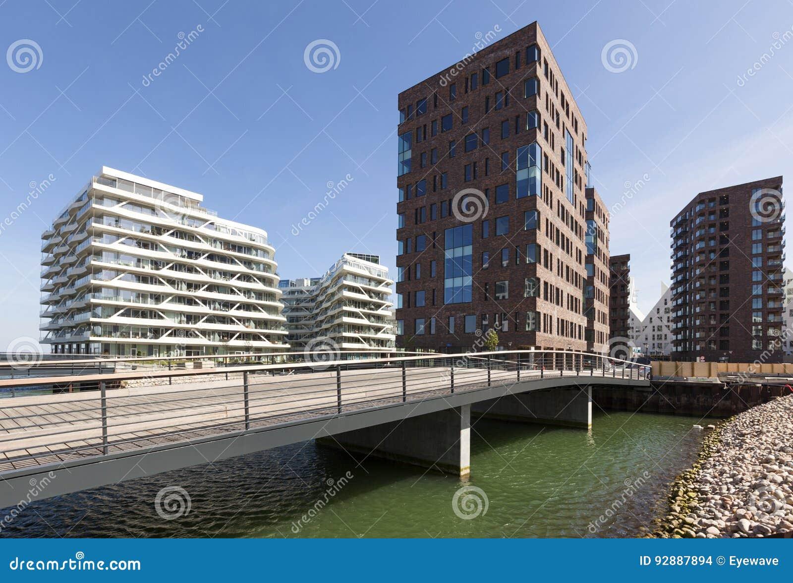 Zeitgenössische Architektur In Aarhus, Dänemark Stockfoto - Bild von ...