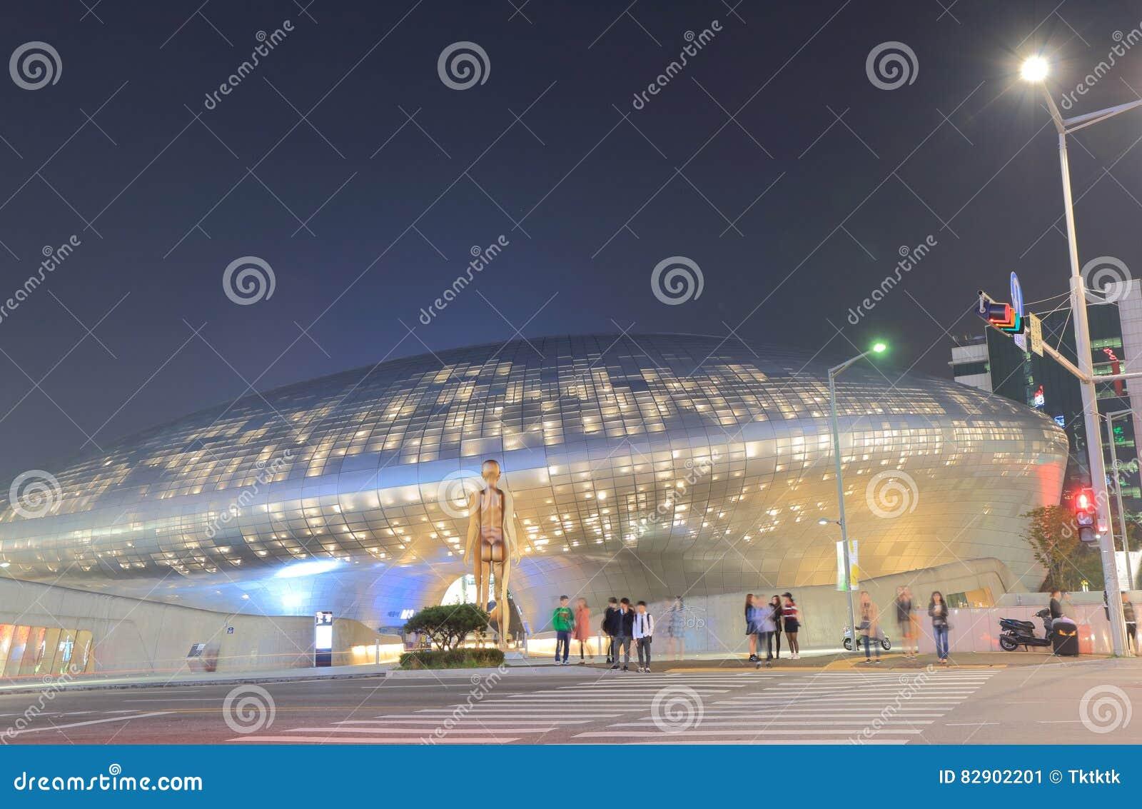 Zeitgenössische Architektur Seoul Südkorea Der Dongdaemun-Design ...