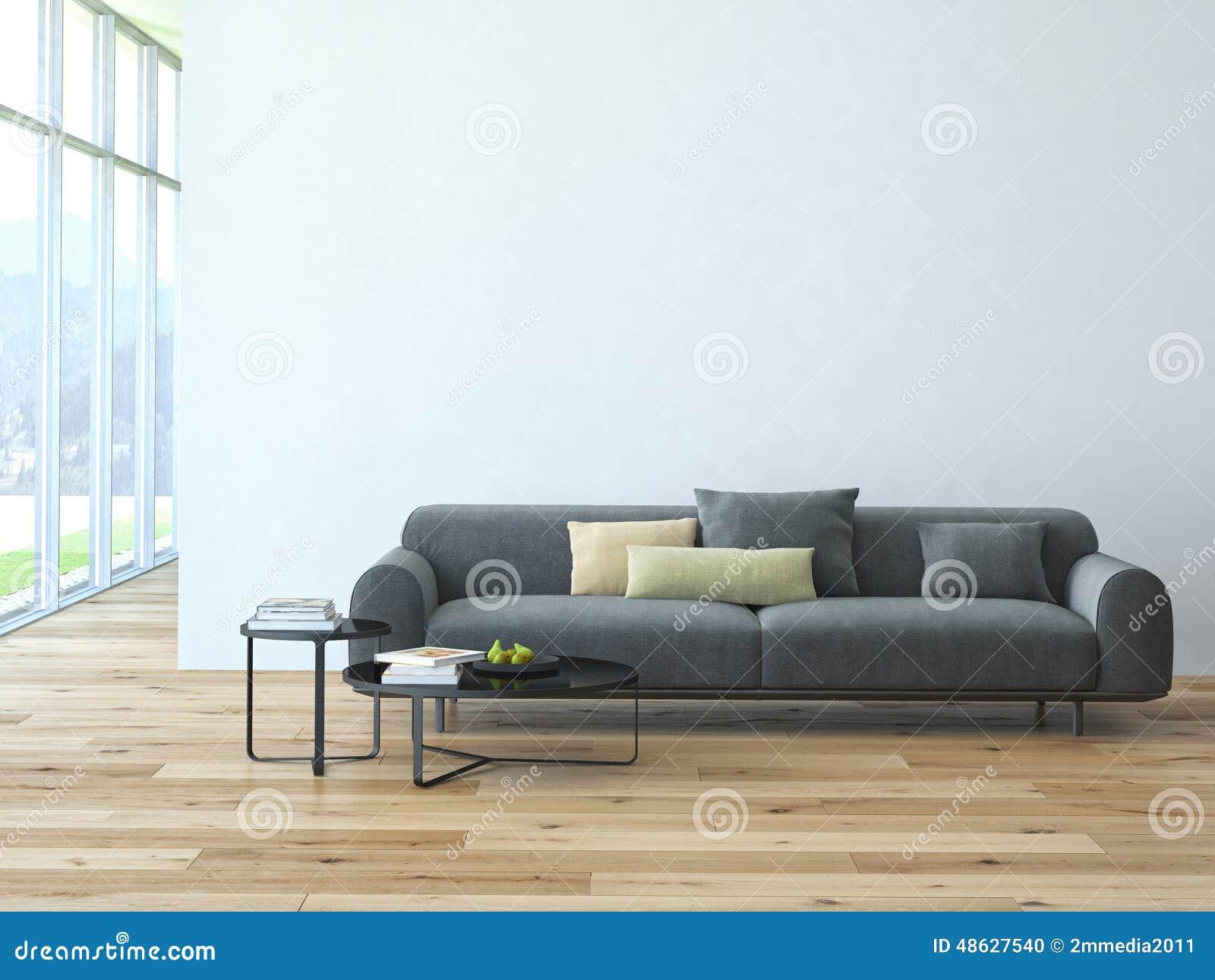 Zeitgenössischer Wohnzimmerdachbodeninnenraum