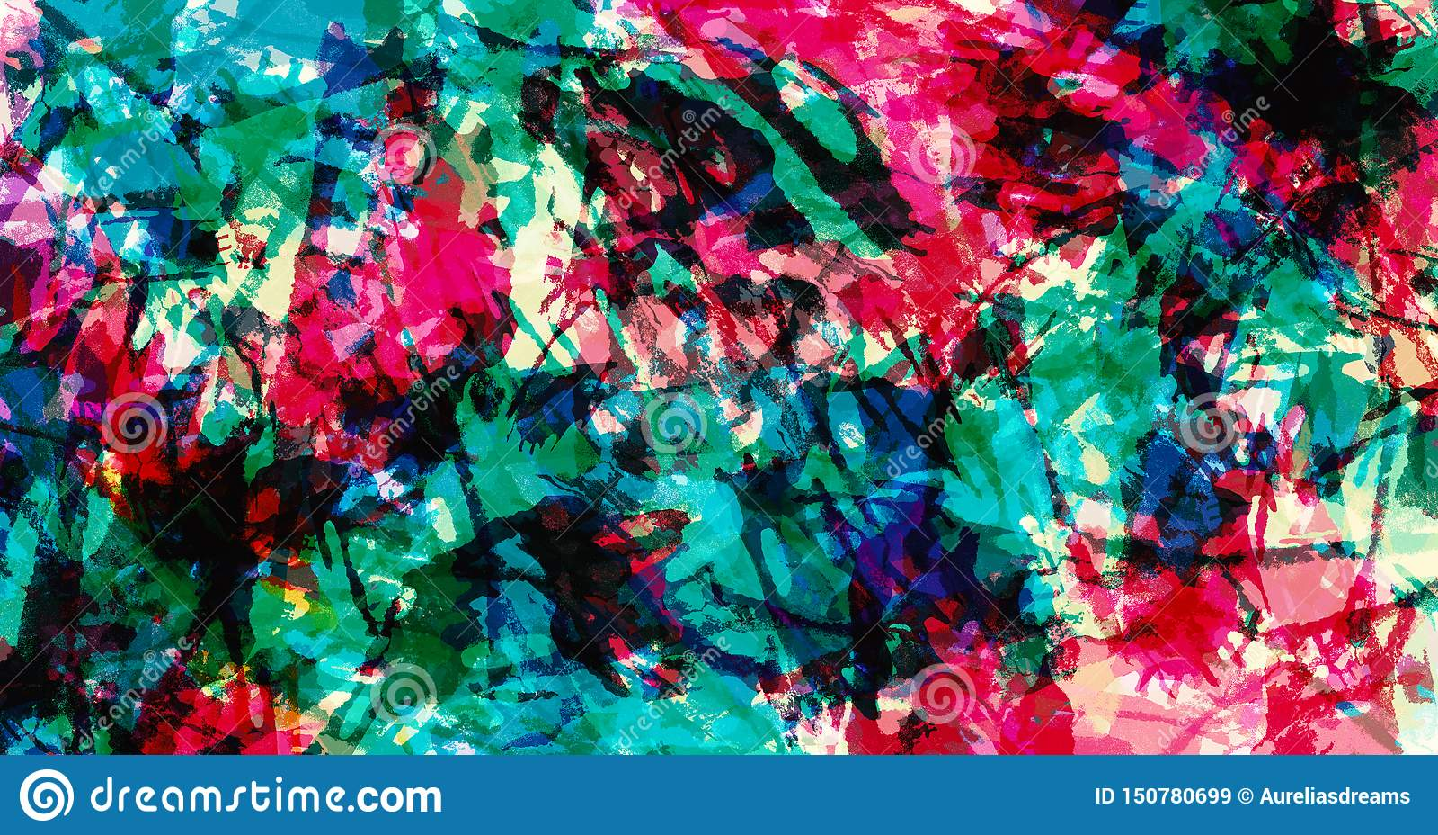 Zeitgen?ssische Kunst Hintergrund der abstrakten Kunst Bunte grunge Beschaffenheit Pinselstriche der Farbe