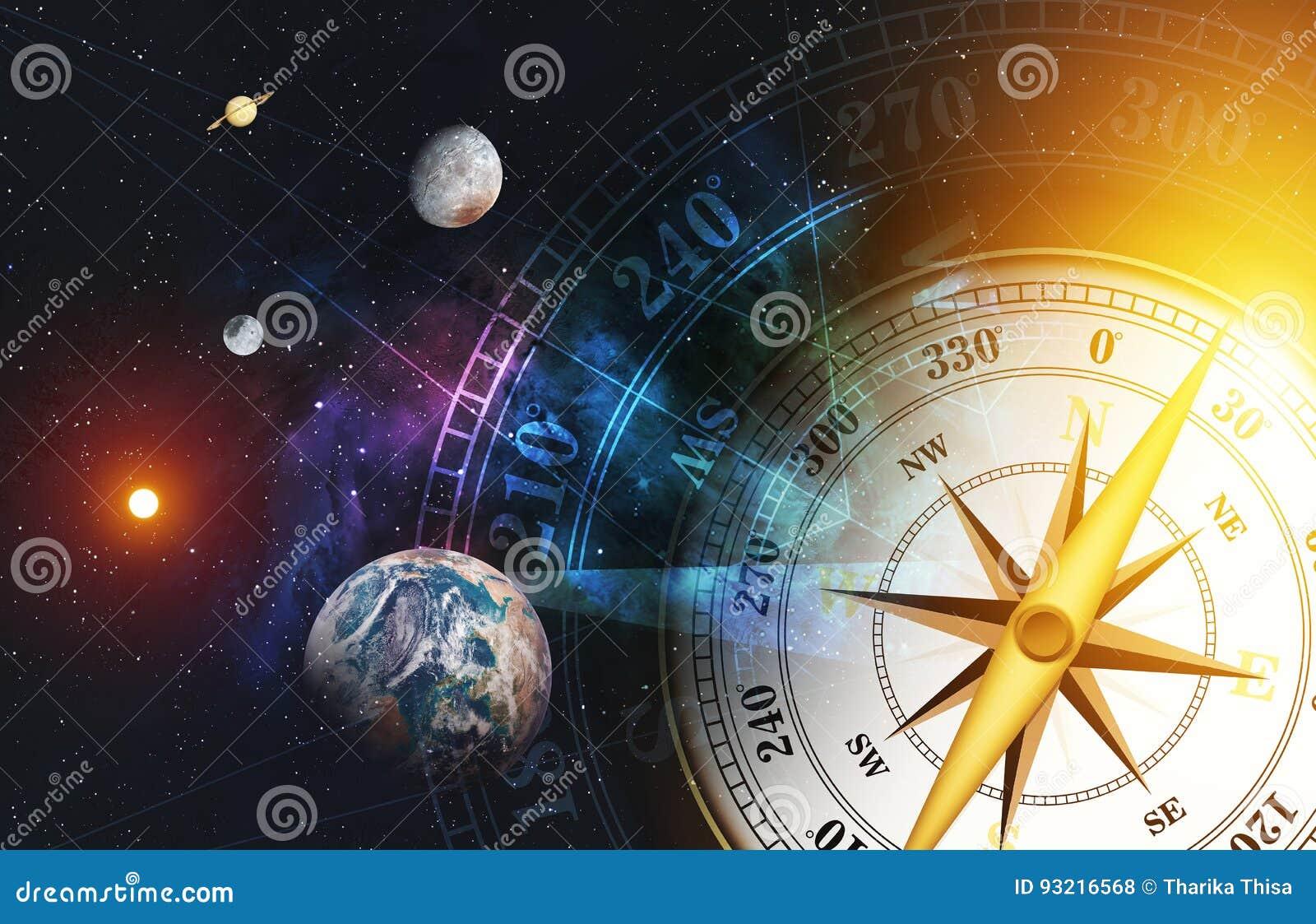 Zeitmaschinenkonzept bunter Raumnebelfleckhintergrund über Licht [Elemente dieses Bildes geliefert von der NASA]