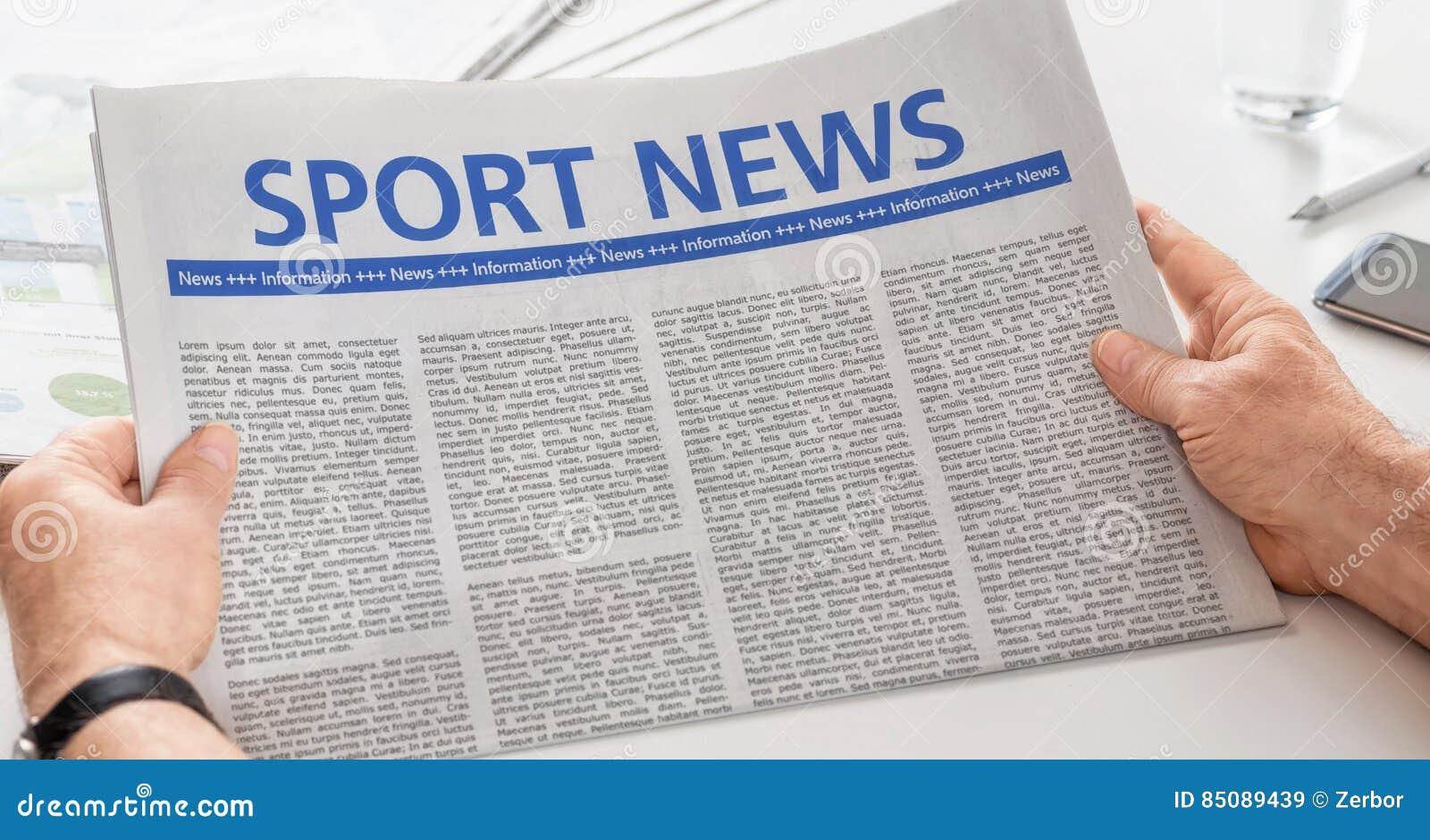 Gemütlich Sport Zeitung Vorlage Zeitgenössisch - Beispiel ...