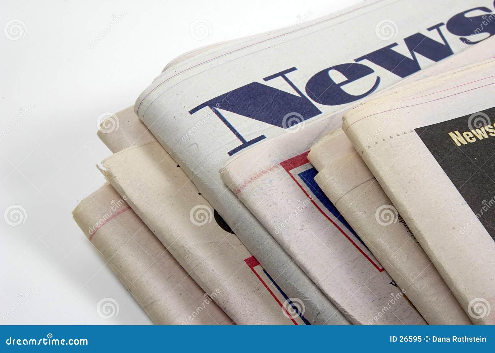 Download Zeitungen stockbild. Bild von presse, papier, report, geschäft - 26595