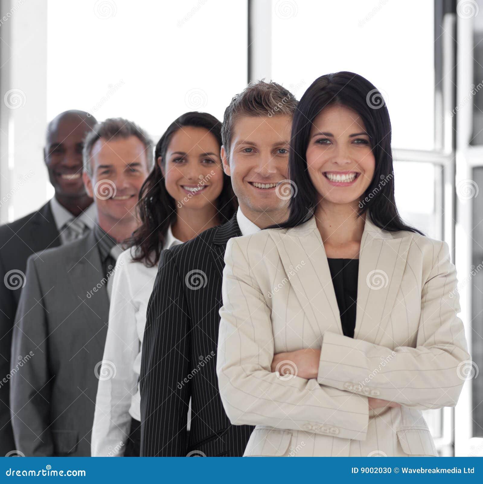 Zekere Vrouwelijke Bedrijfsleider