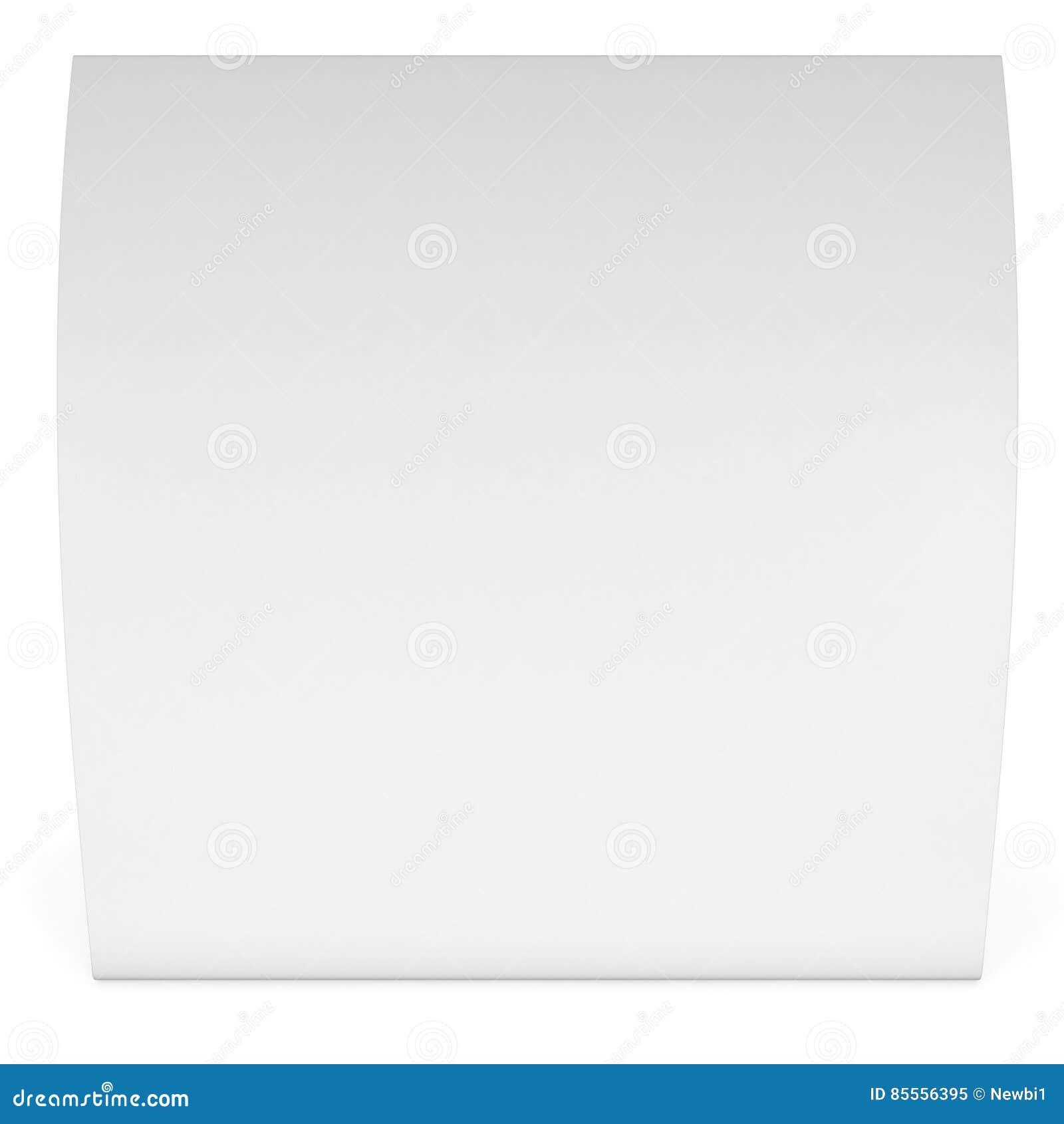 Zeltkarte des leeren Papiers 3d übertragen