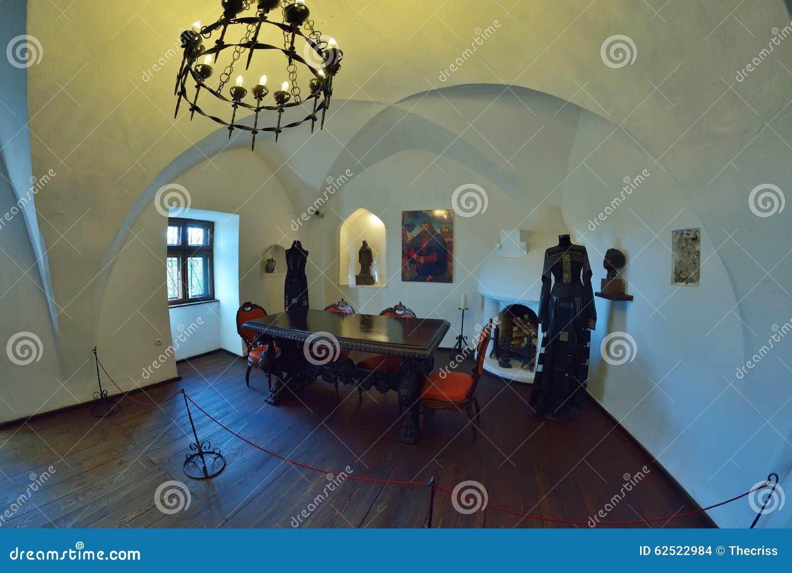 Zemelenkasteel, Ook Genoemd Het Kasteel Van Dracula, In Zemelen, Roemeni u00eb Stock Foto