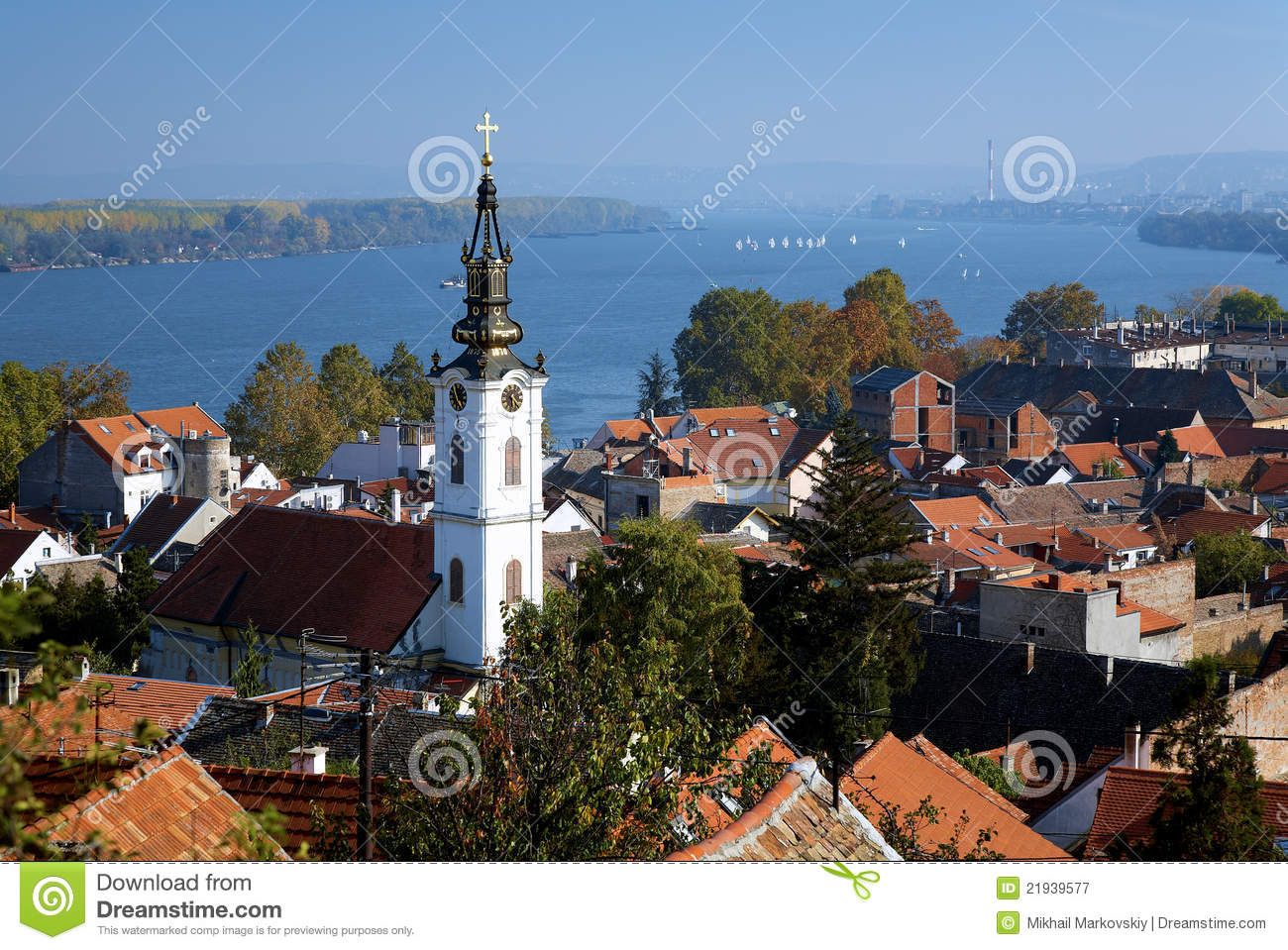 Zemun Serbia  City pictures : ... , Danube river and Belgrade from the Gardos hill in Zemun, Serbia
