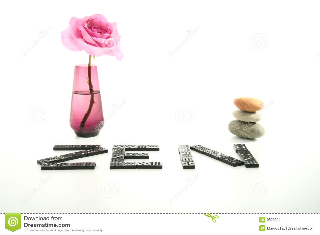 Zen Atmosphere Vase And Rose Stock Image Image 9523321
