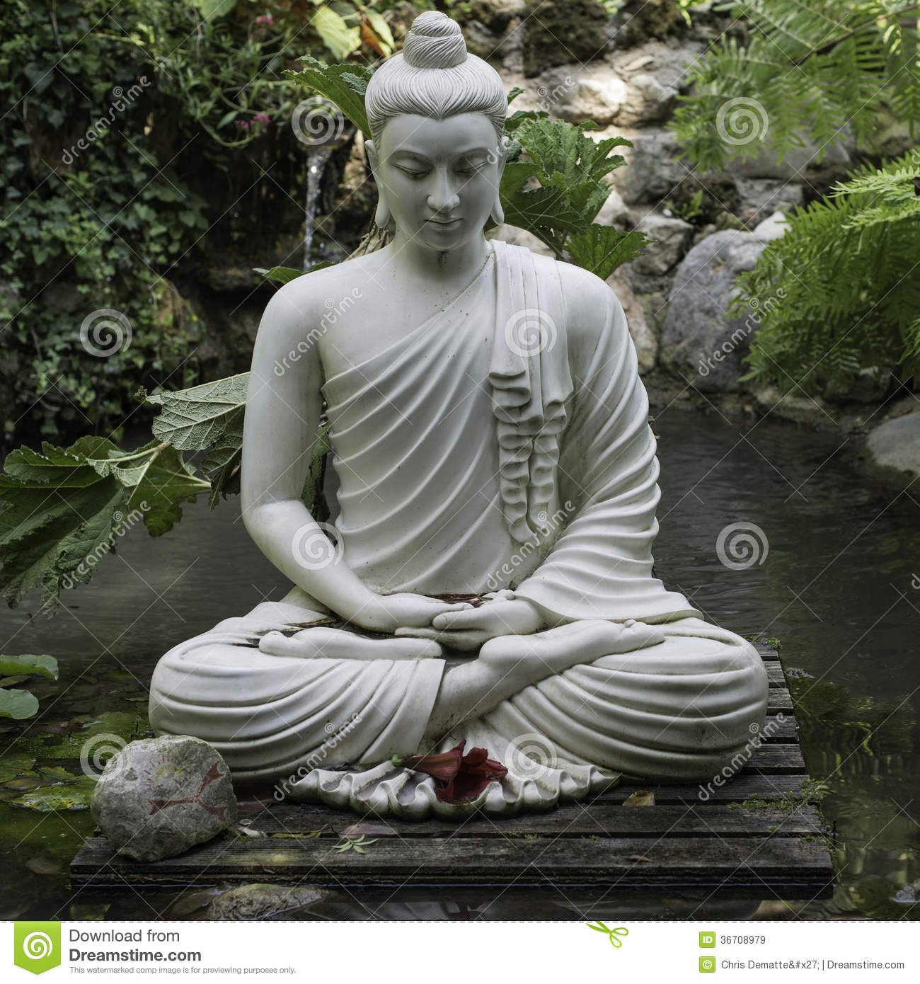 zen stock image image of religion nature garden statue. Black Bedroom Furniture Sets. Home Design Ideas
