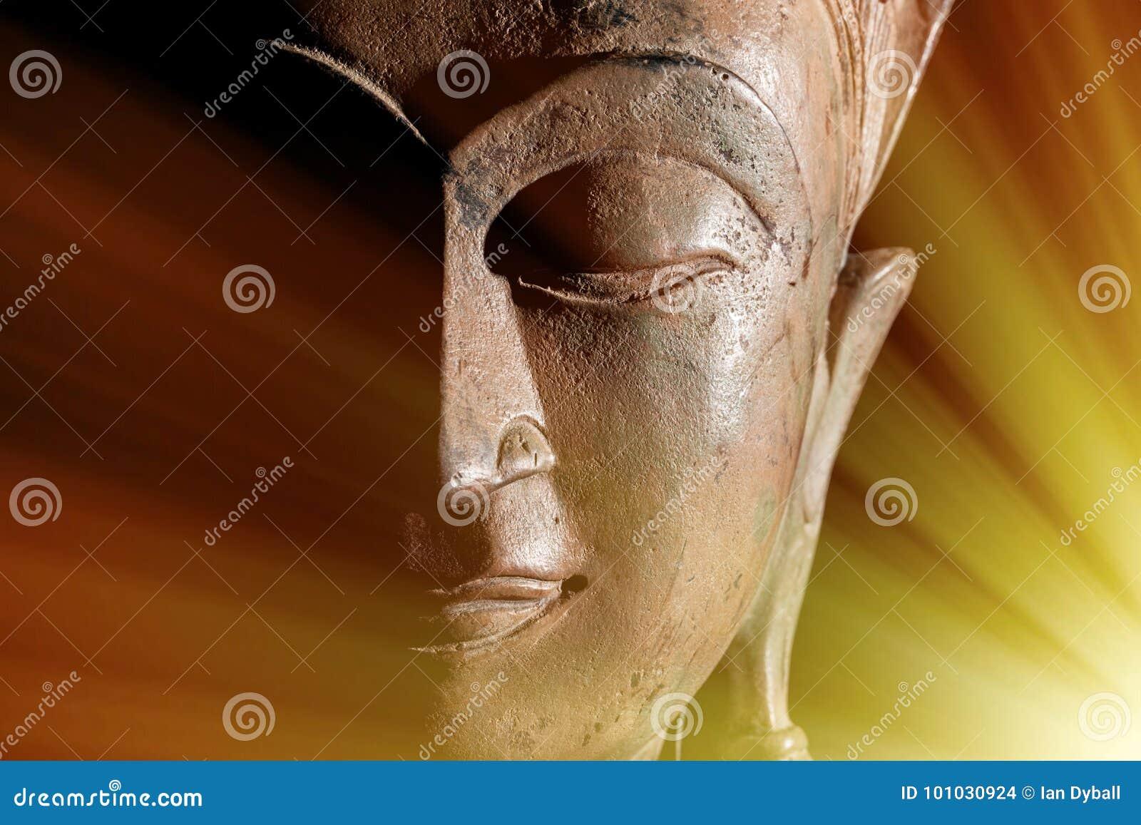 Zen Buddhism Goddelijke lichte stralen van geestelijke verlichting of zoals