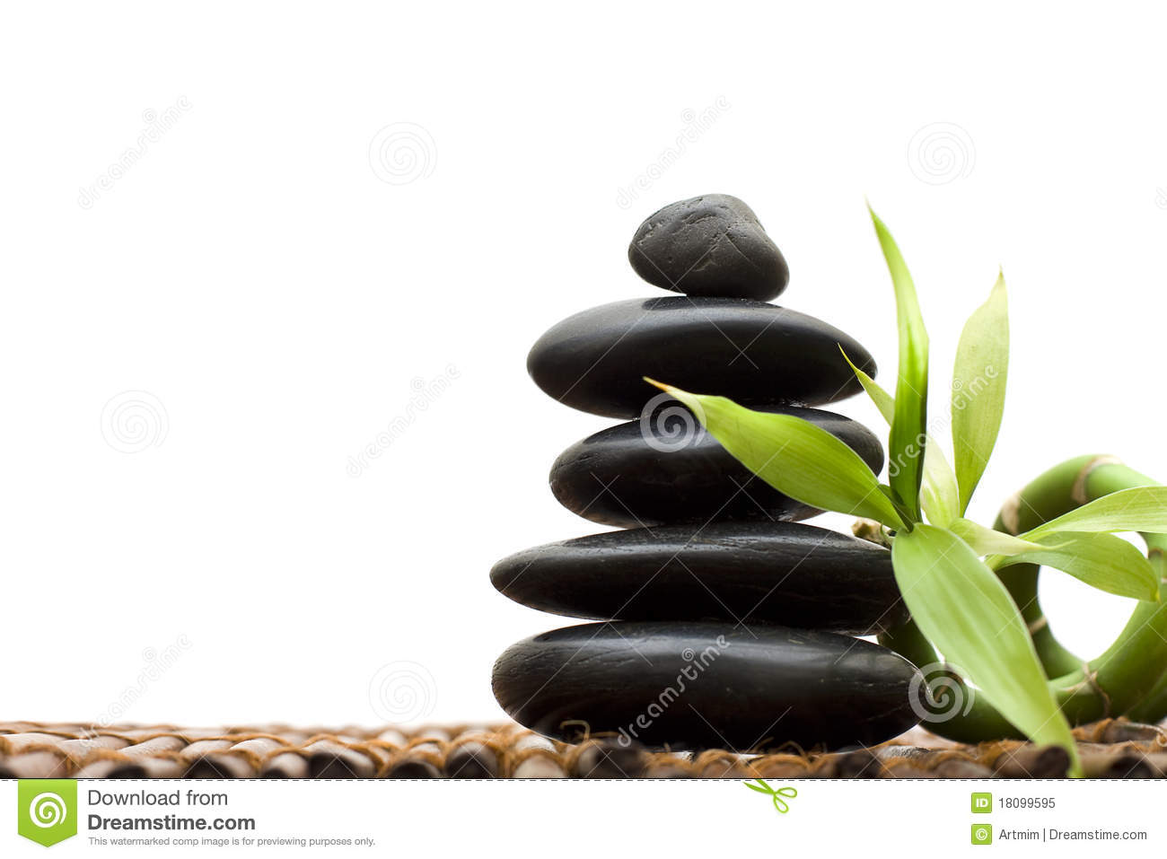 Zen Concept With Bamboo And Stone Stock Image Image Of