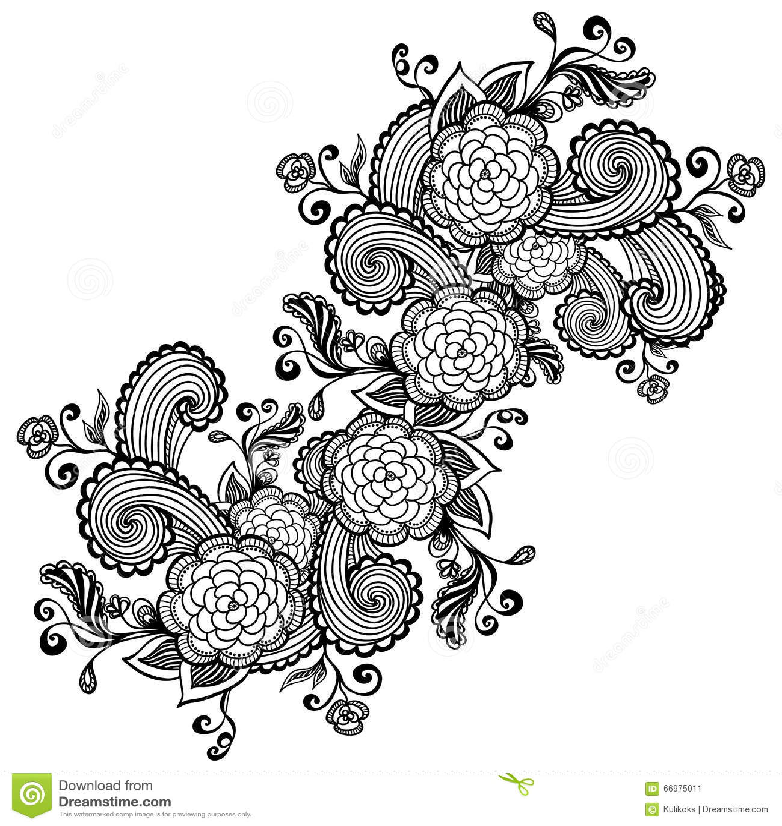 zen doodle coloring pages flower - photo#2
