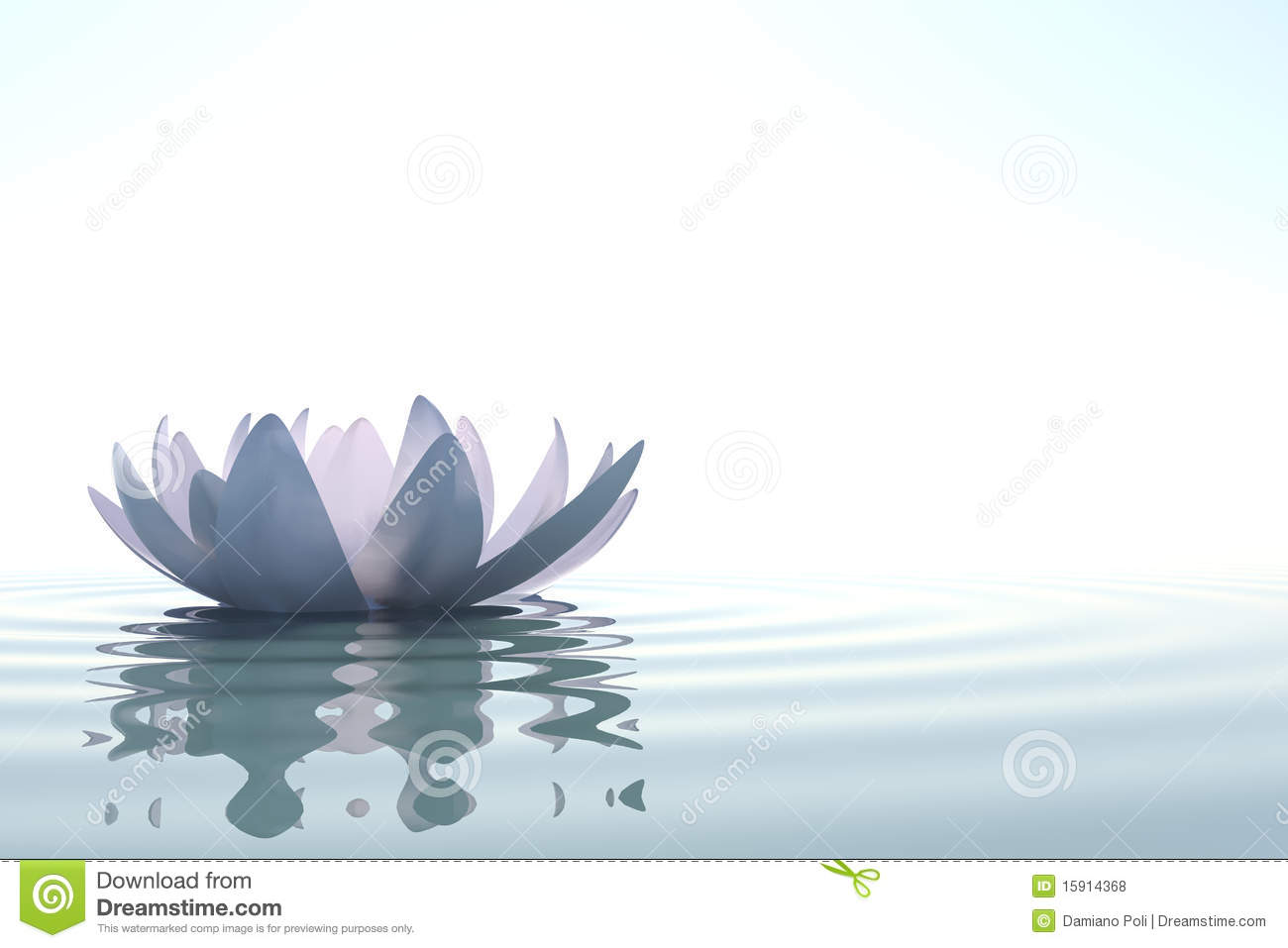Zen Flower Loto In Water Royalty Free Stock Photos - Image: 15914368