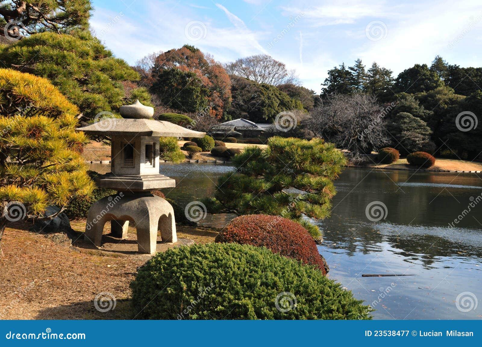 Zen garden in Shinjuku Gyoen National Garden  Tokyo Zen Garden Photography
