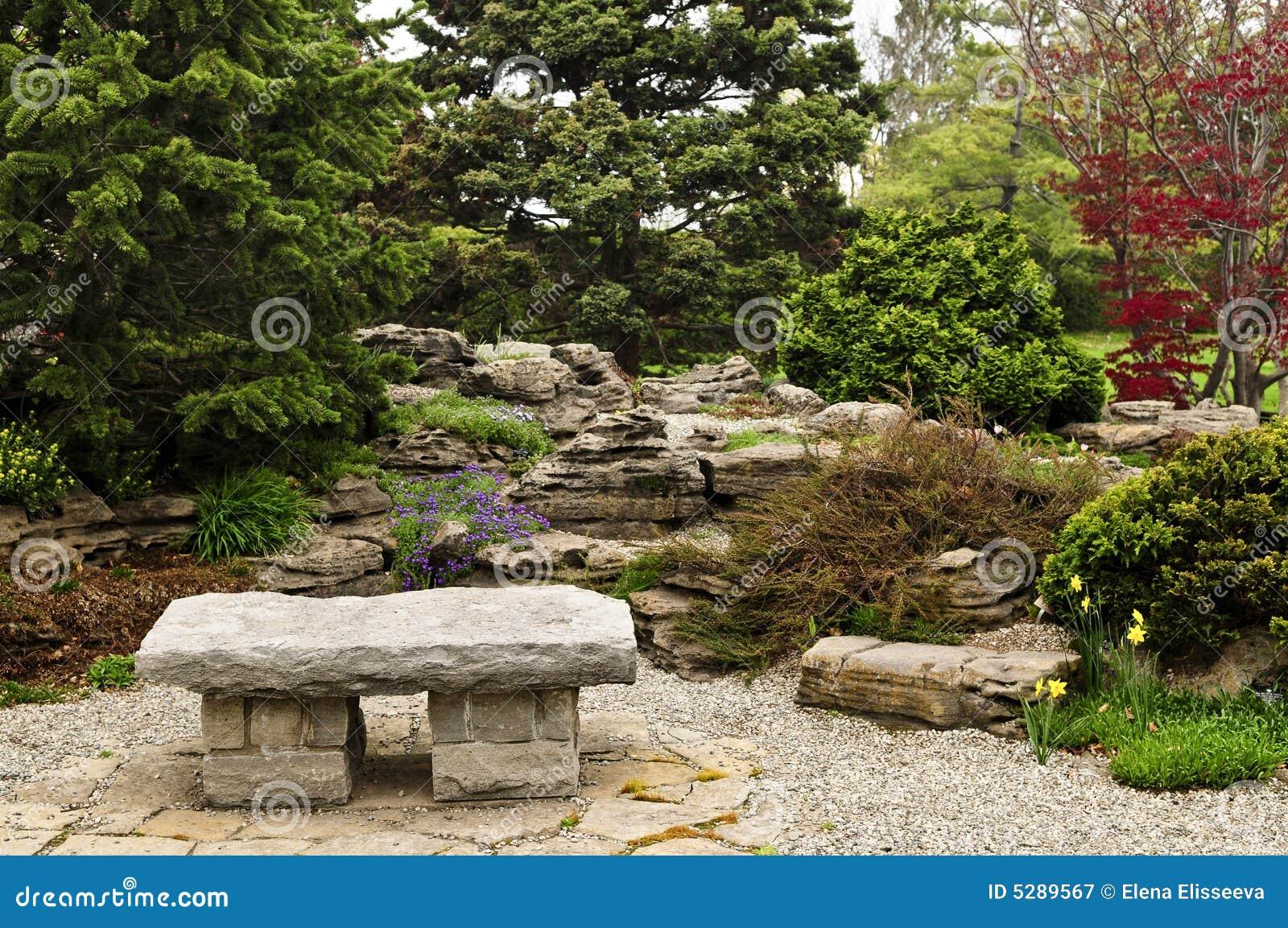 Zen garden stock image. Image of beds, calm, maple, flowerbeds - 5289567