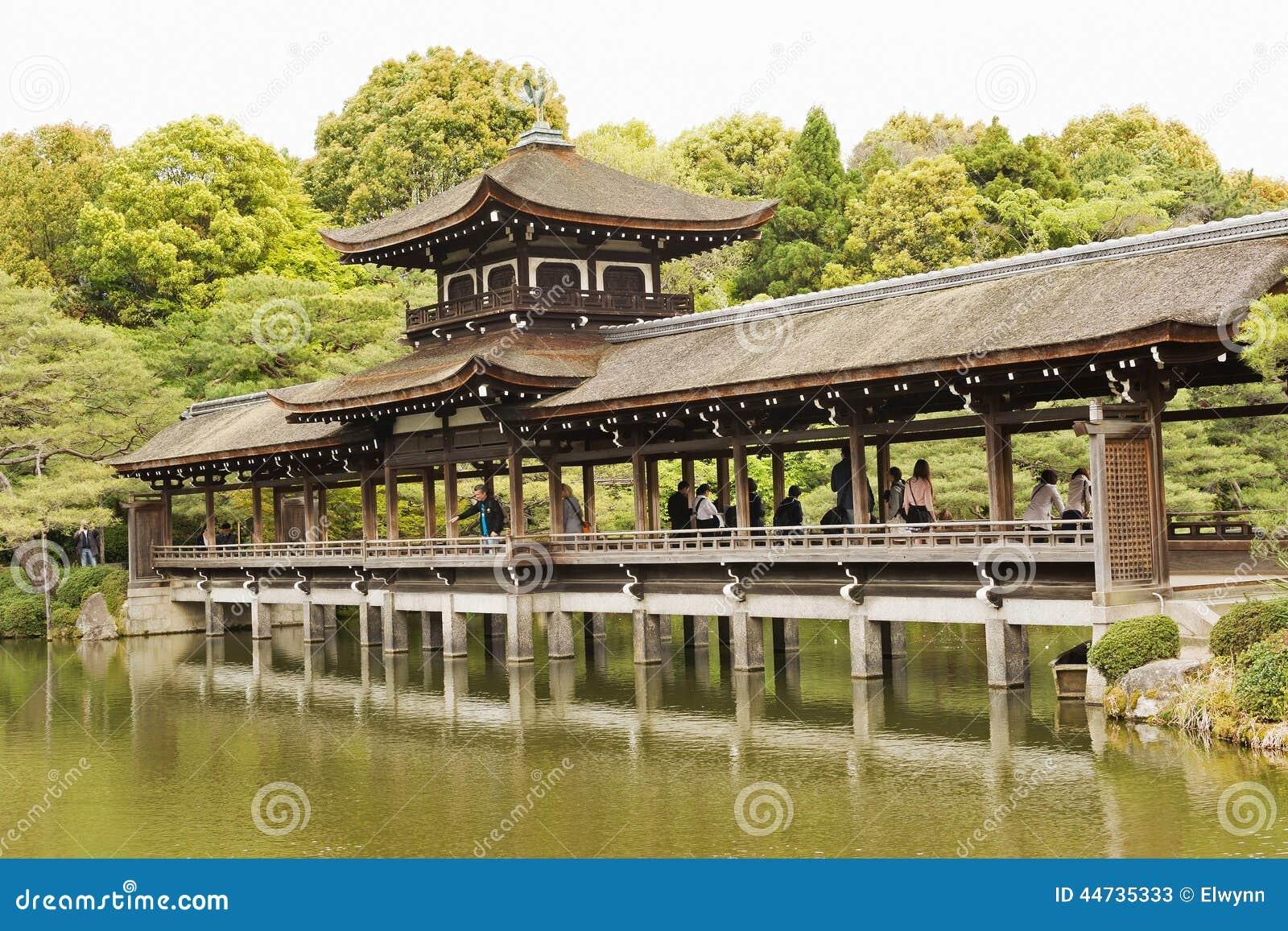 Zen Garden Del Santuario Di Heian-jingu Fotografia Stock Editoriale - Immagin...