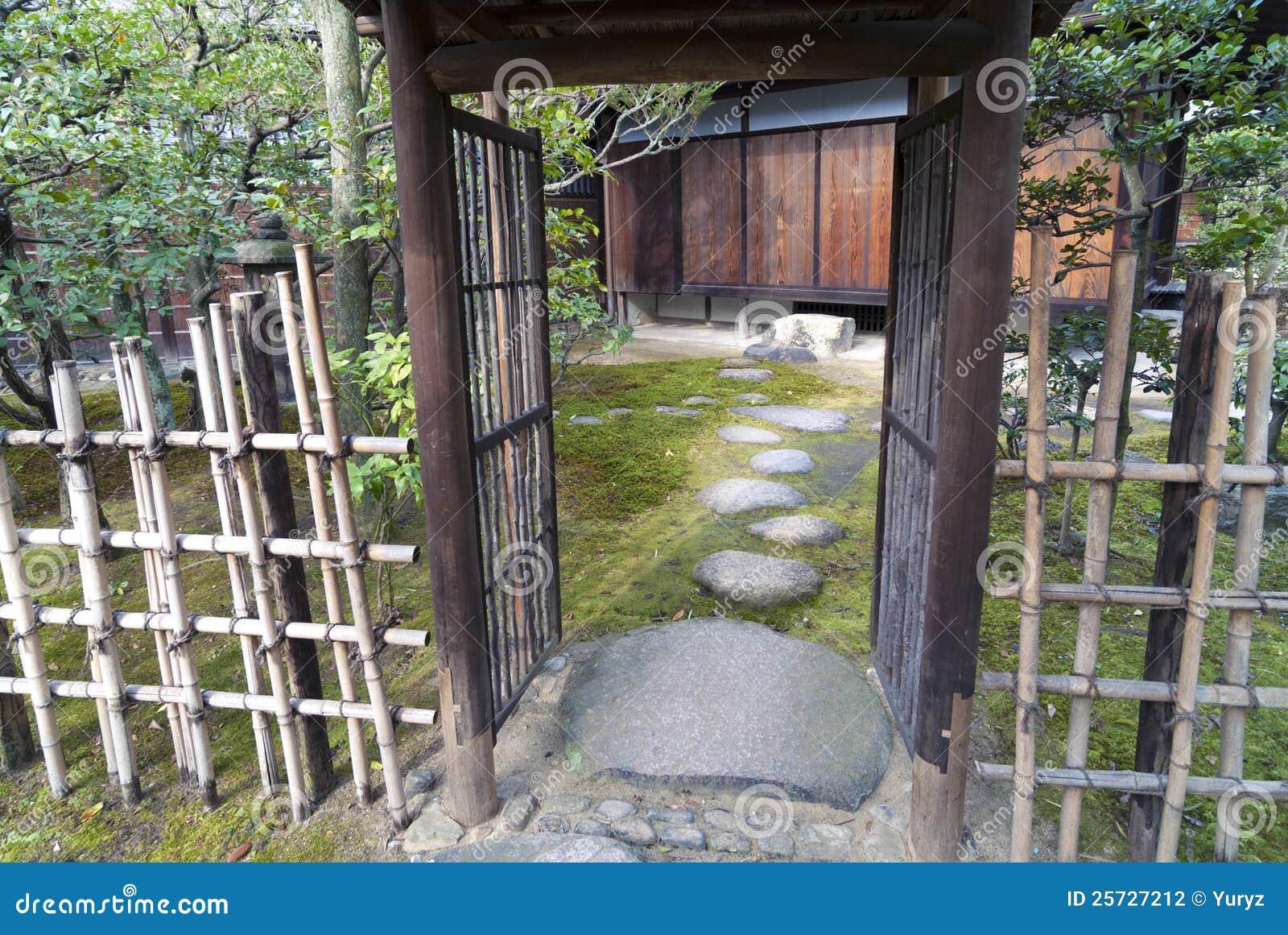 Zen Garden Entrance Stock Photo Image Of Entrance Garden 25727212
